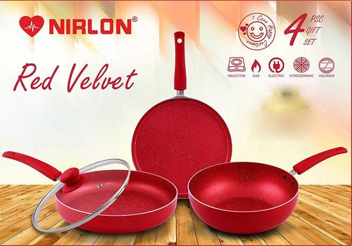 Nirlon Red Velvet Cookware Gift Set