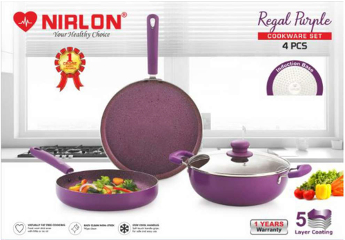 Nirlon Regal Purple Cookware Gift Set