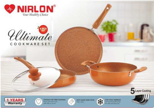 Nirlon Ultimate 4pcs Cookware Set