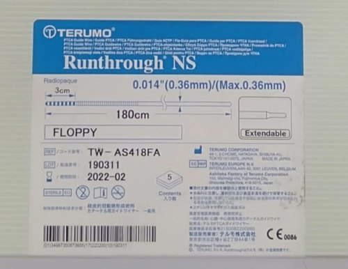 Terumo Runthrough Ns Ptca Guide Wire