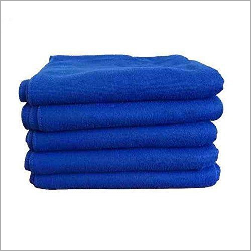 Plain Blue Terry Towel