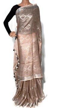 Pure Linen Jamdani Saree.