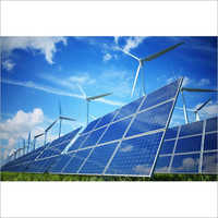 Industrial Wind Solar Energy Plant