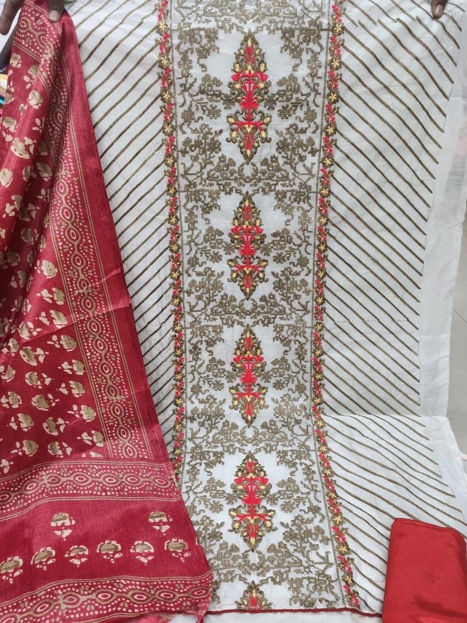 Satin dress material