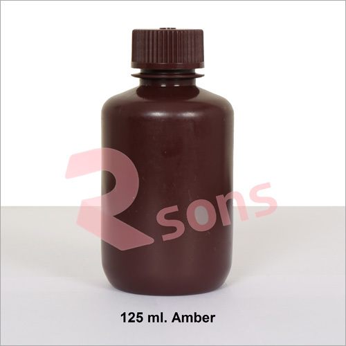 125 ml HDPE AMBER BOTTLE