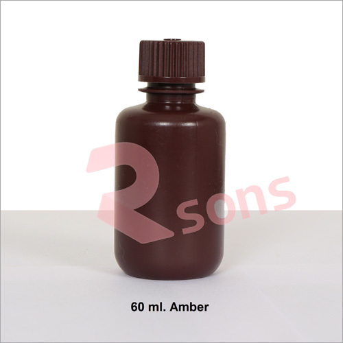 60 ml HDPE AMBER BOTTLE