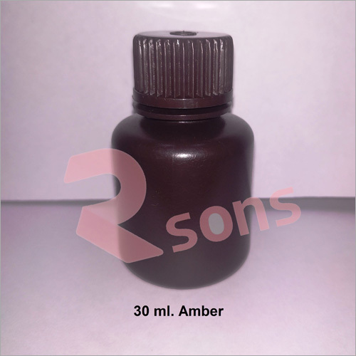 30 ml HDPE AMBER BOTTLE