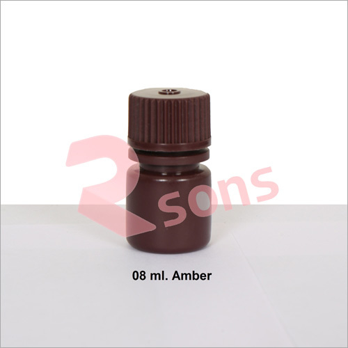 08 ml HDPE AMBER BOTTLE