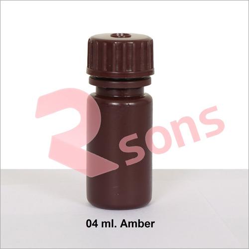 04 ml HDPE AMBER BOTTLE