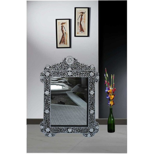 Black Mother of Pearl Inlay Luxury Wall Mirror Frame