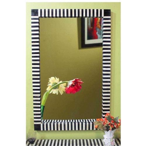 Herringbone Inlay Mirror Frame