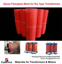 Epoxy Fiberglass Mesh Fabric/Resin impregnated glass fiber mesh for Dry Type Transformers