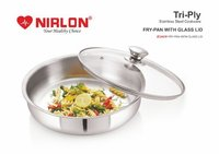 Nirlon Platinum Triply Stainless Steel Fry Pan