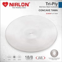 Nirlon Tri Ply Stainless Steel Tawa 26 cm Cookware - Induction Friendly