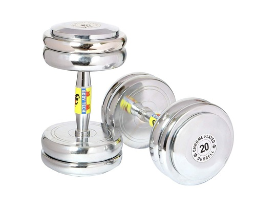 Chrome Steel L-Key Dumbbells