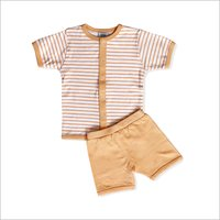 Short Sleeve Front Open T-Shirt And Short