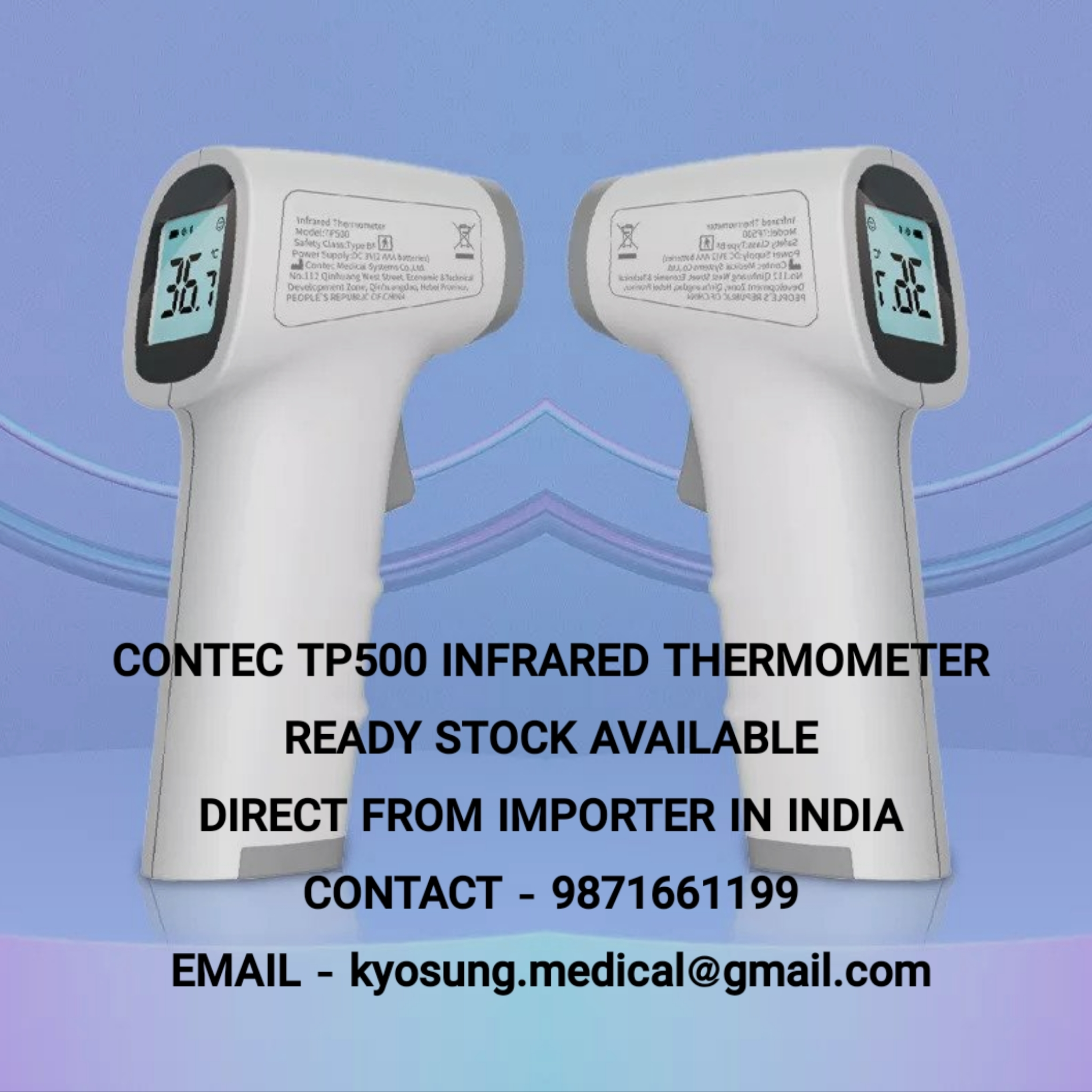 CONTEC TP 500 INFRARED THERMOMETER CALL @ 9871661199