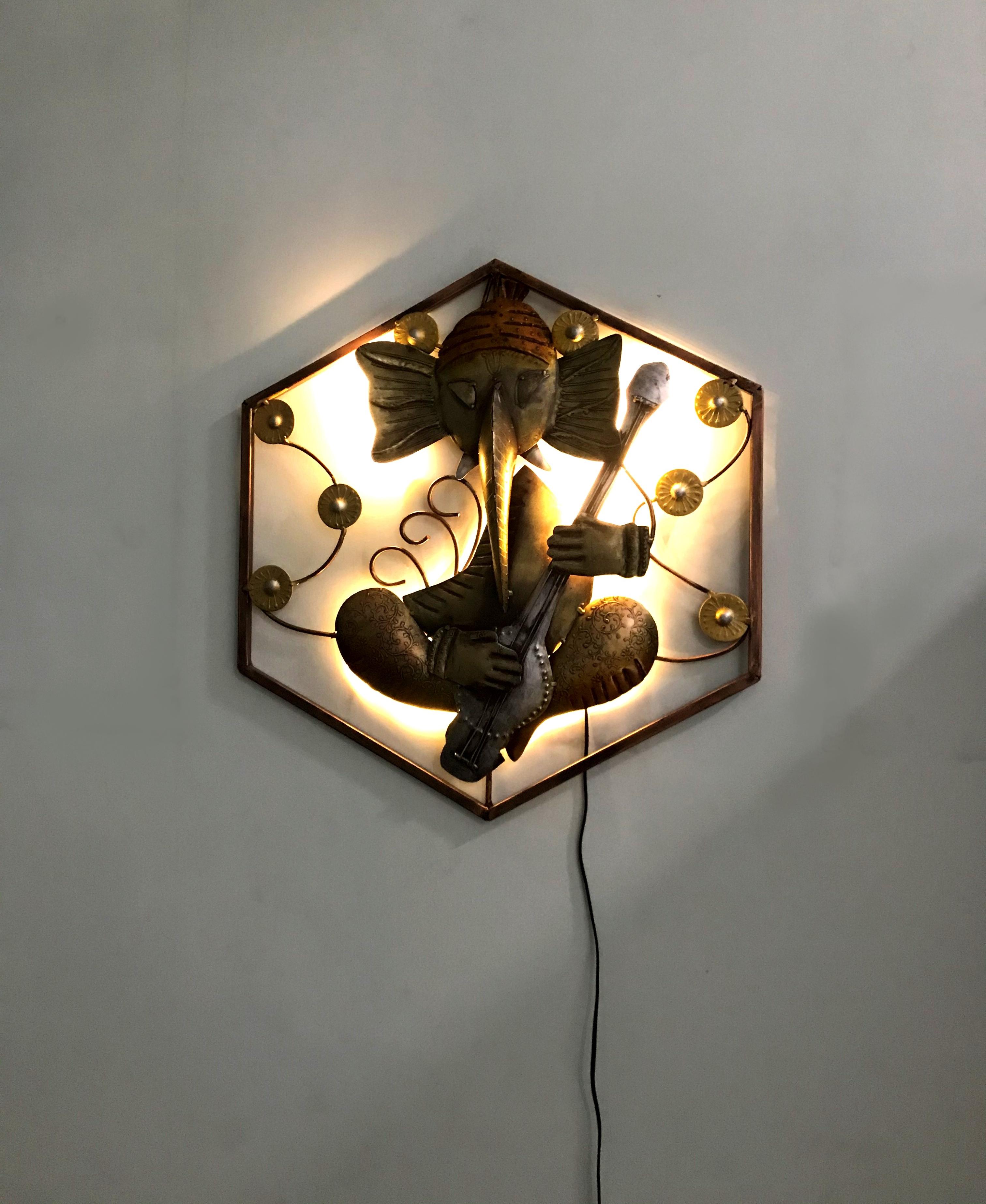 Lord Ganesha With LED Wall Decor