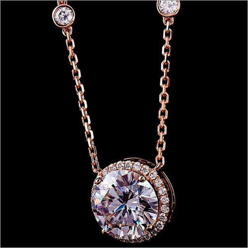 10mm Round Cut Simulated Diamond Halo 925 Sterling Silver Pendant Size: 18 inch