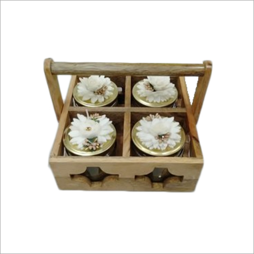 Wooden 4 Compartment Table Caddy