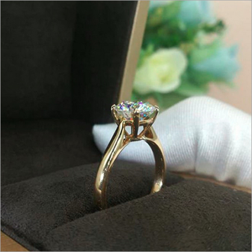 9mm Round Cut Simulated Diamond Solitaire Engagement Ring 925 Sterling Silver Ring