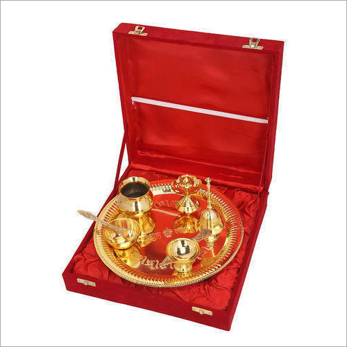 Gold Plated Pooja Thail Gift Set