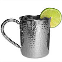 Stainless Steel Hammered Mug