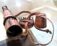 18'' Brass Antique Pullout Telescope with Leather Cover