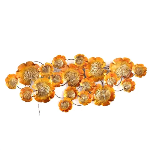 Golden Flower with Back Led Lights