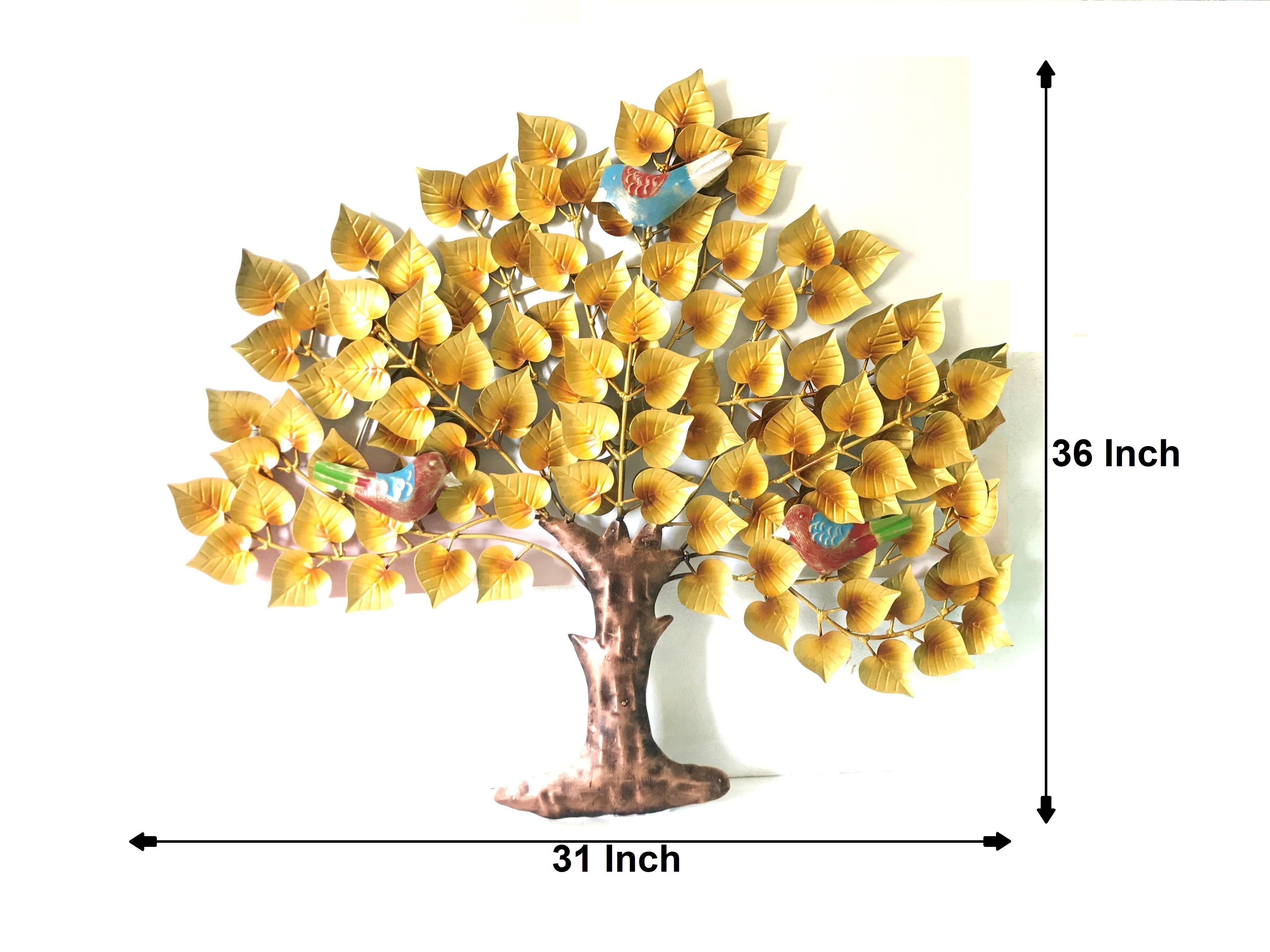 Bird on Golden TreeWall Decor