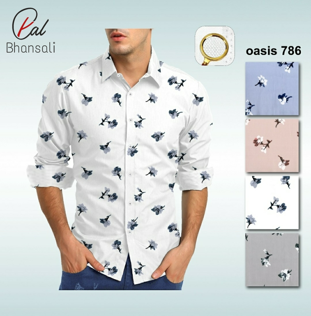 Dobby Printed Shirting Fabric