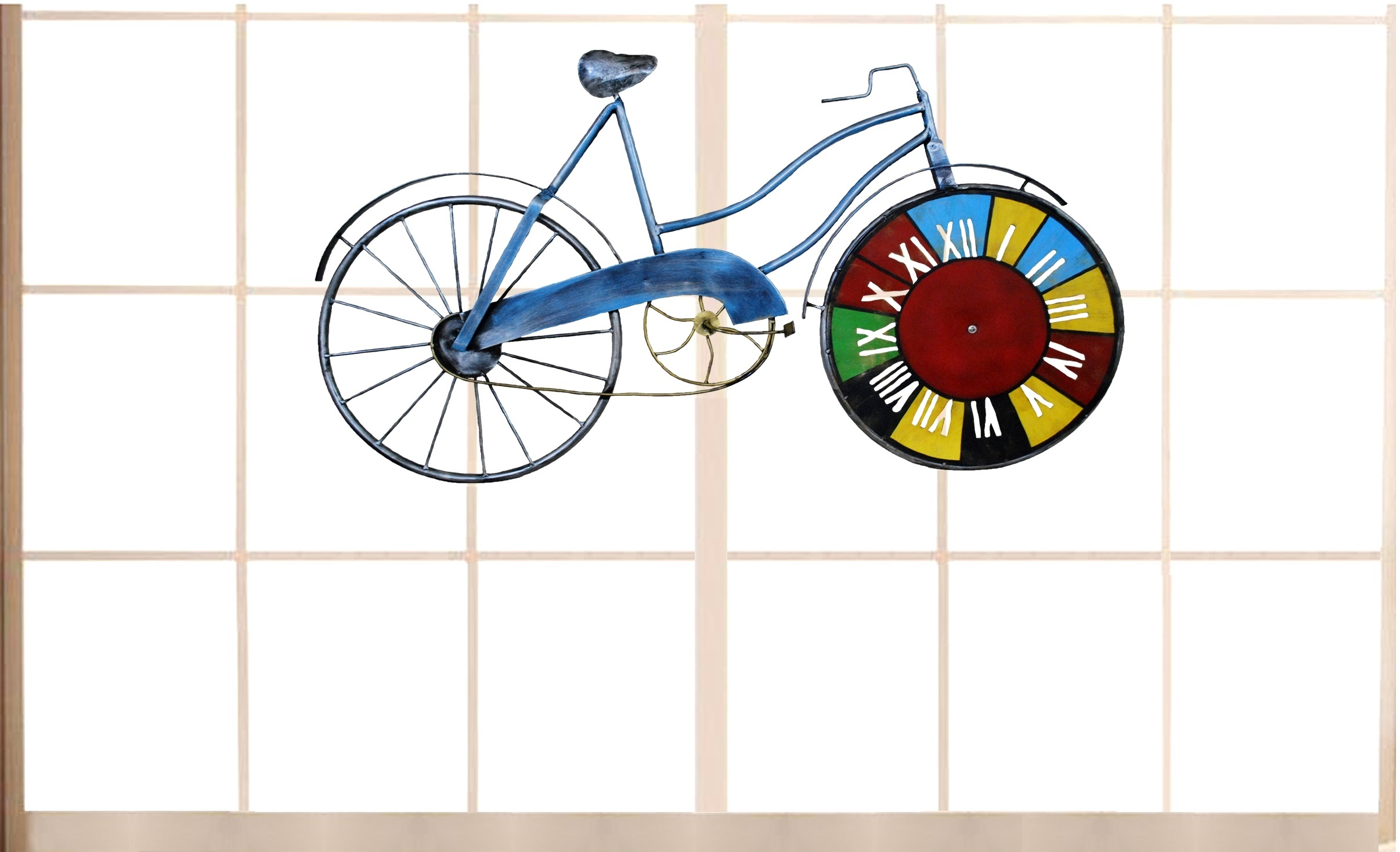 Blue Cycle with Clock