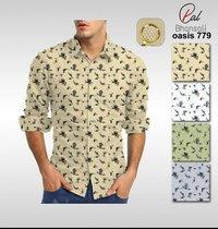 Dobby printed shirting fabrics