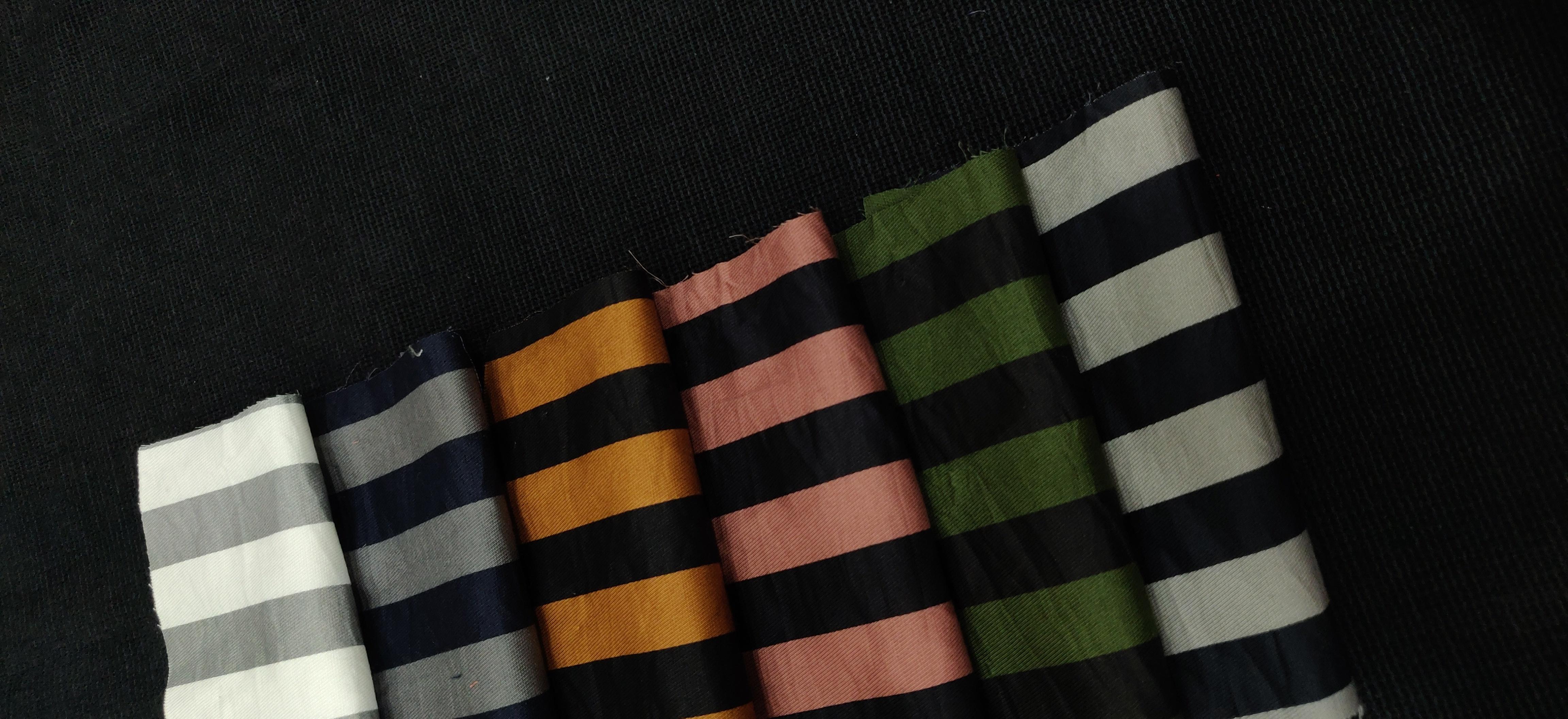 Calvery Lycra Cotton Printed Shirting Fabric