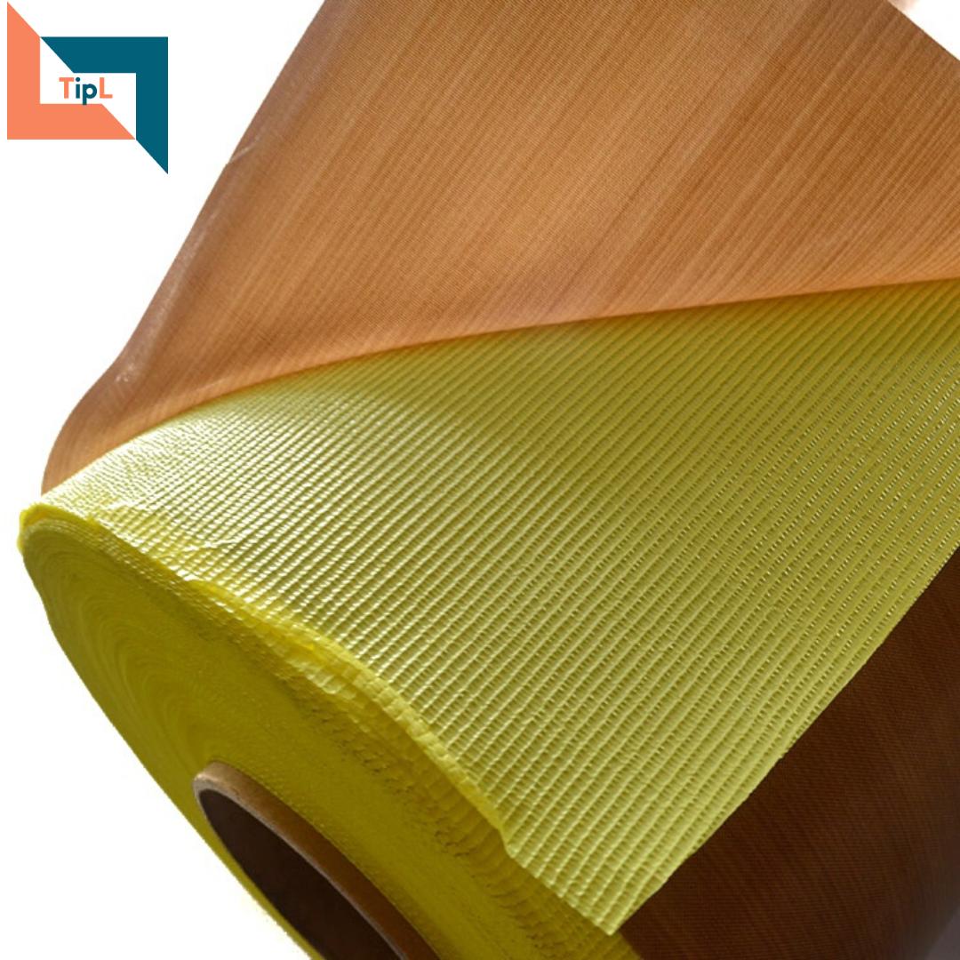 PTFE Fiberglass Adhesive Tape Brown