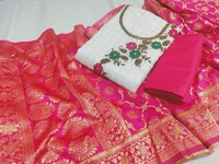 Checks silk dress