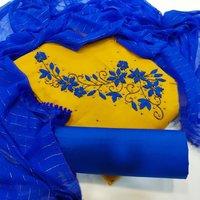 Chanderi cotton handwork dress