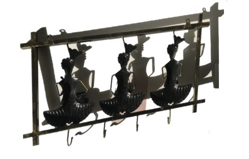 Three Rajasthani Musician Man Art Key Holder Hanging Hooks