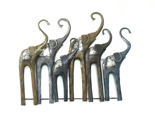Durable Elephant Family With Led Light Wall Decor