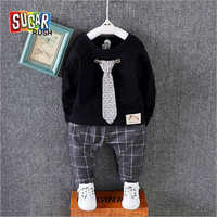 Baby Shirt With Check Pant Set