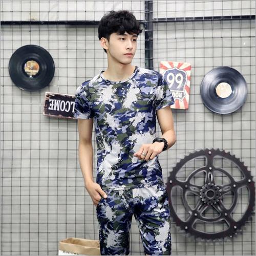Mens Printed Short T-Shirt Set