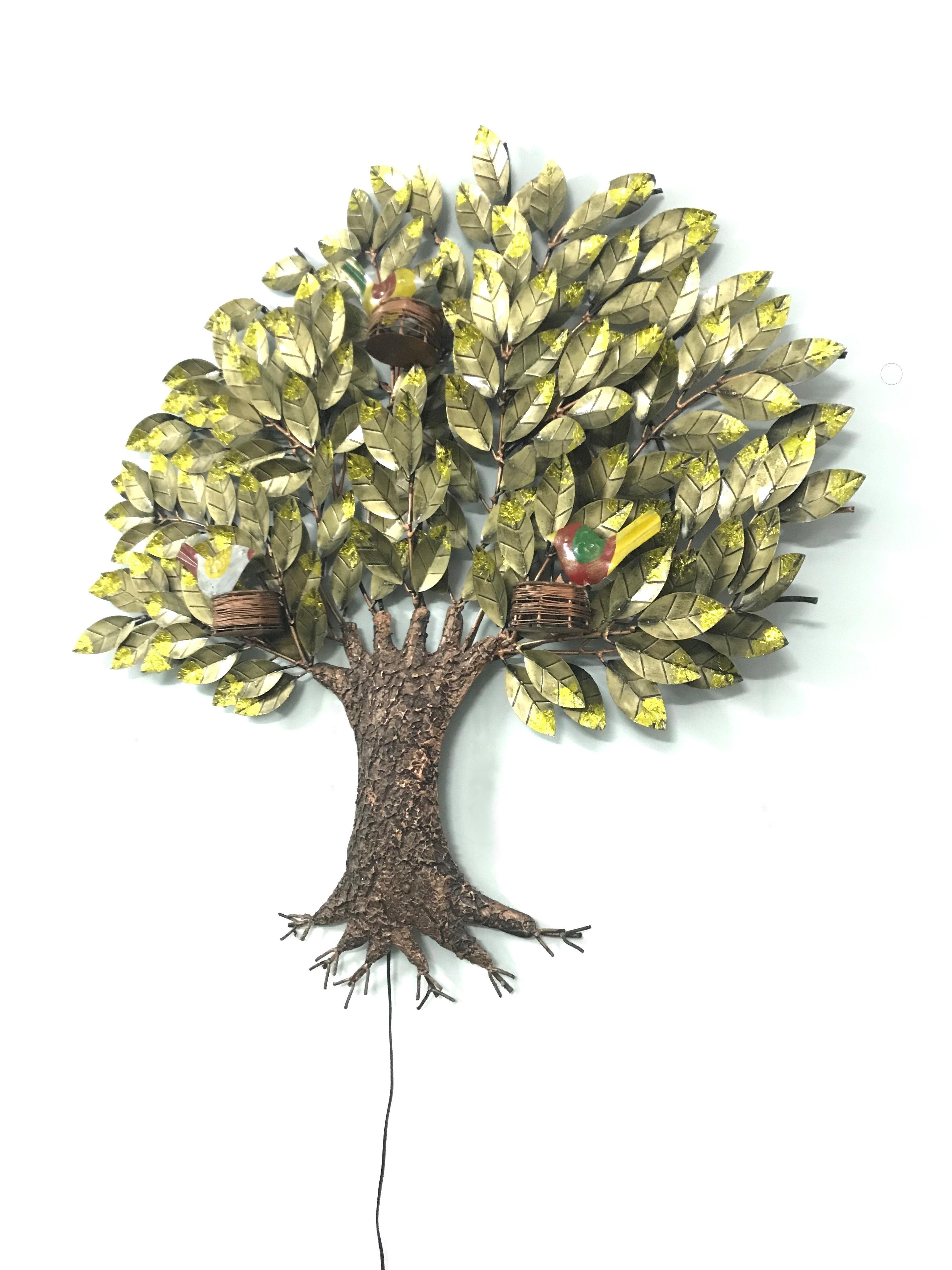 Bird Nest on Tree With LED