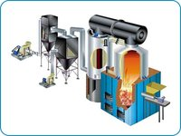 Vertical Four Pass F.B.C Fired Hot Water Boiler