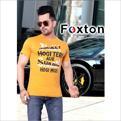 Mens Cotton Printed T-Shirt