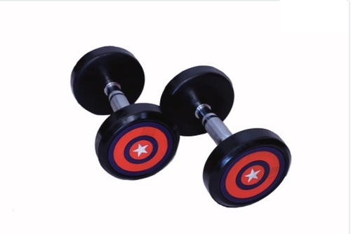 Captain America PU Coated Dumbbells