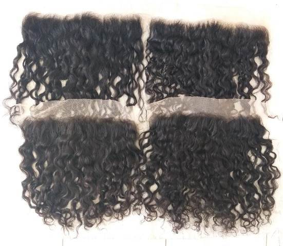 Raw curly hair frontal