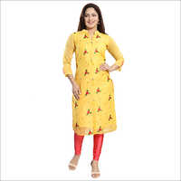Chanderi Embroidered Kurti