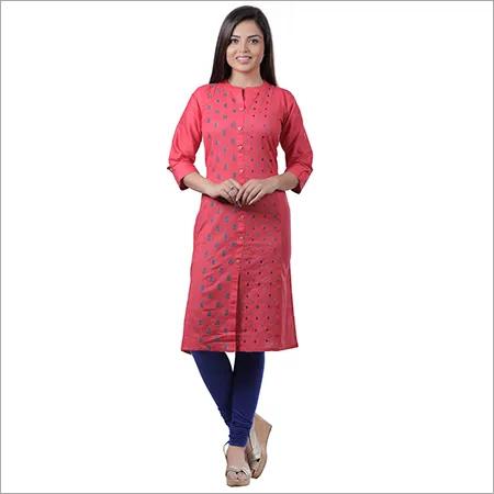 cotton embroideried kurti