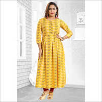 Fab India Printed Long Kurti
