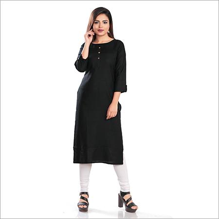 rayon black kurti